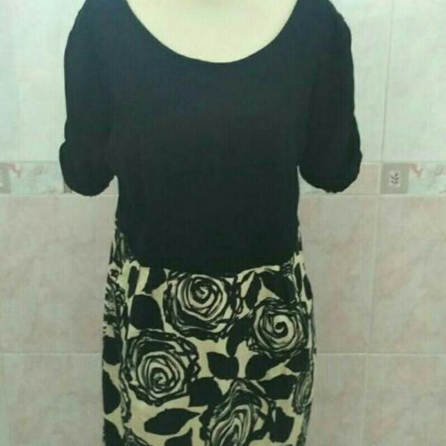 Free Ongkir Jabodetabek Dress Hitam Import