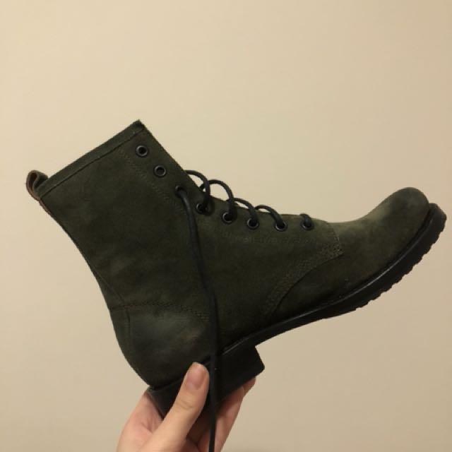 Frye Veronica Combat Boot Forest Green