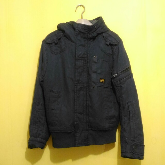 G-Star Polair Navy Hooded Jacket Original