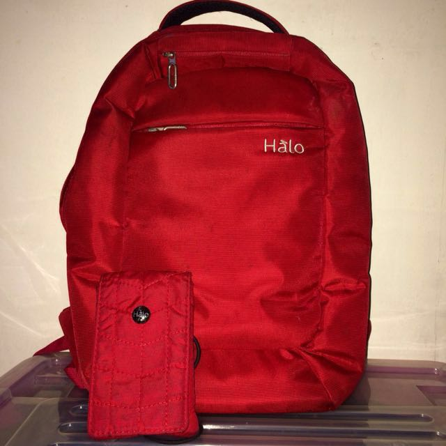 Halo laptop backpack bag FREE mobile pouch