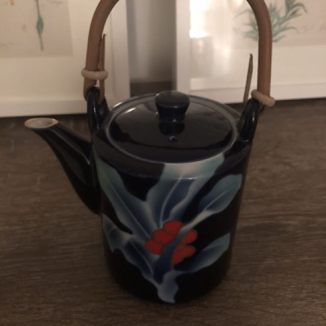 Hand painted ceramic teapot