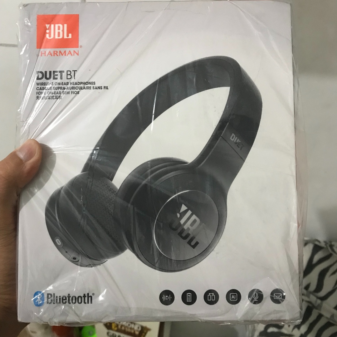 Headphone Headset Wireless Bluetooth JBL Duet Black
