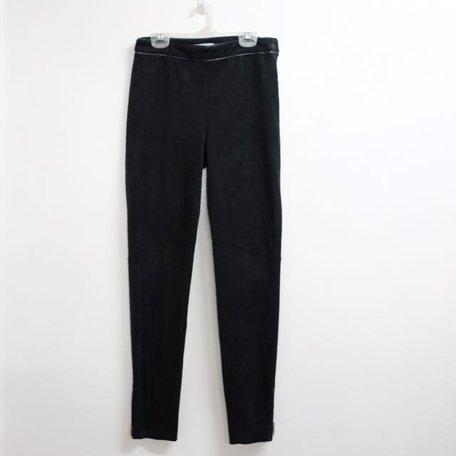 H&M suede trousers