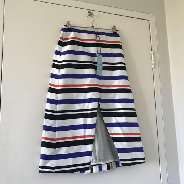 KOOKAÏ - chic stripe skirt