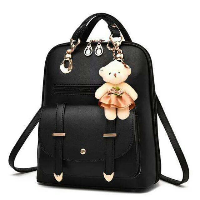 Korean backpack with bear
