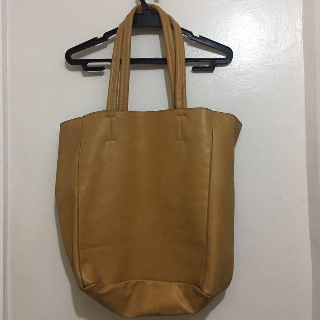 Large Mustard Shoulder Bag