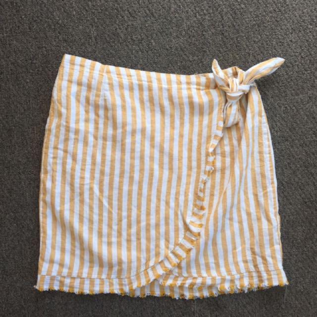 Linen Wrap Skirt - Size 12