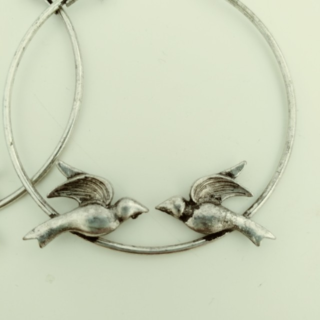 Love bird hoop earrings