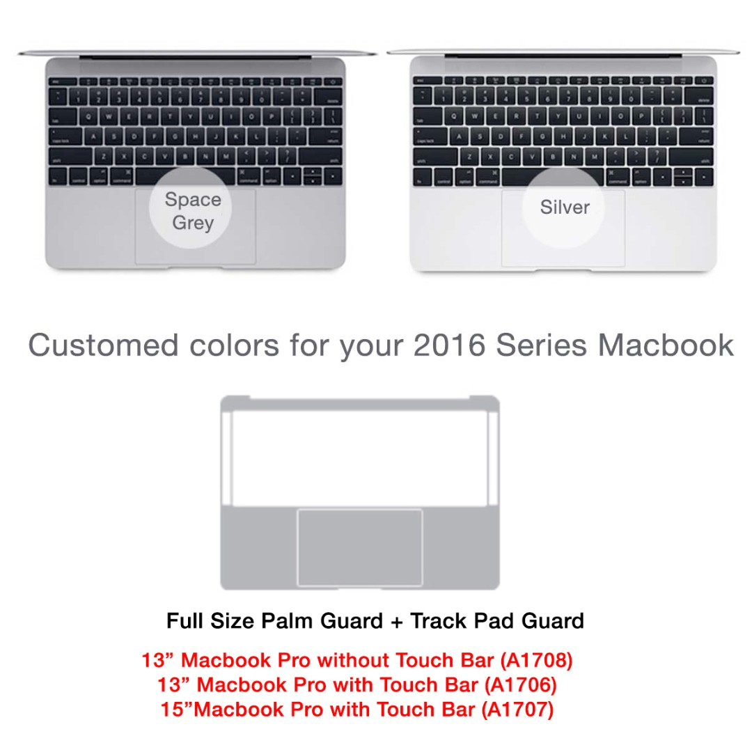 Macbook Palm Guard - Available for latest Macbook (A1706, A1707, A1708)