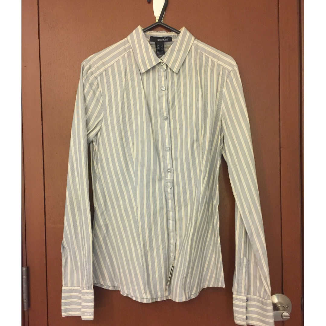 Mango Suit Stripes Long Sleeves