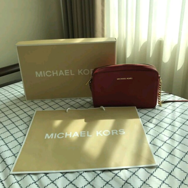 MICHAEL KORS RED CROSSBODY