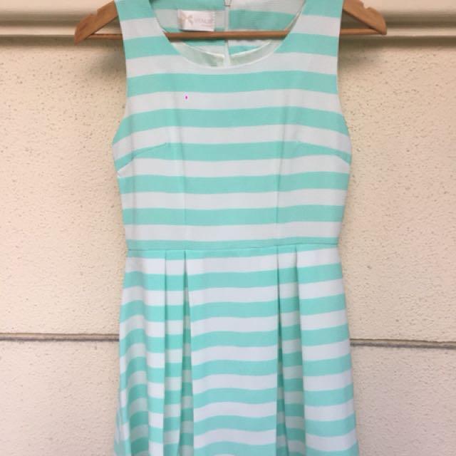 Mint Stripes Dress
