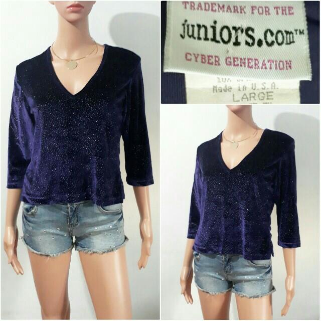 (M-L) Juniors.com violet velvet top
