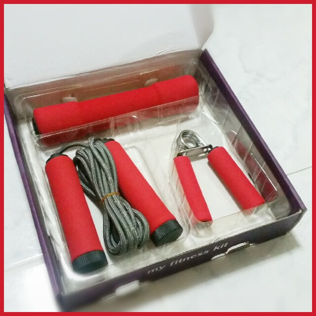 My Fitness Kit - Hand Grip + Dumb Bell + Skipping Rope