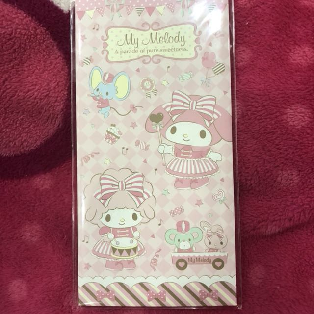 My Melody envelopes with stickers