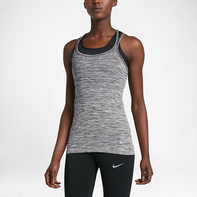 Nike dri fit knit tank size xs/6-8 grey