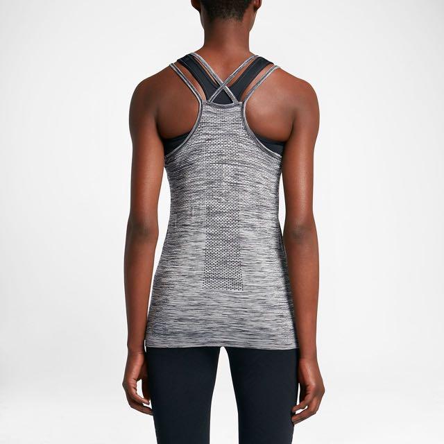 Nike dri fit knit tank size xs/6-8 grey