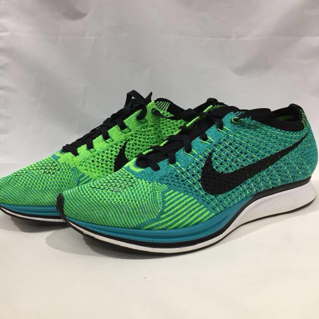 aa4be747ab6f Nike Flyknit Racer Black Lucid Green