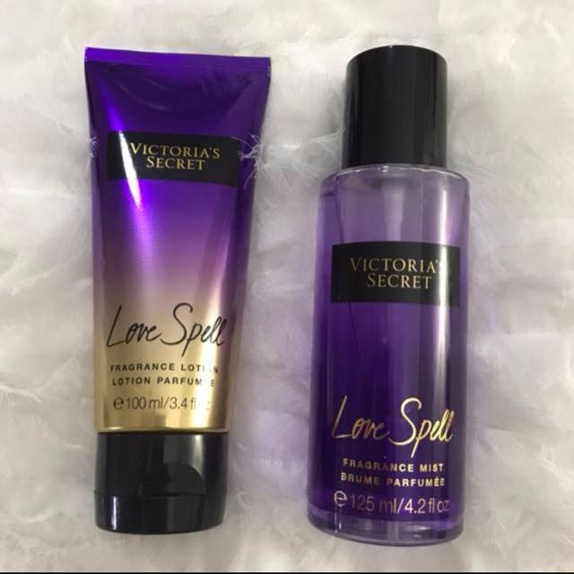 22162671c15 ORIGINAL Victoria s Secret Love Spell Body Mist and Lotion Set ...