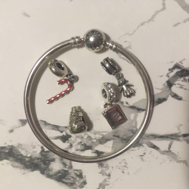 Pandora bangle + charms