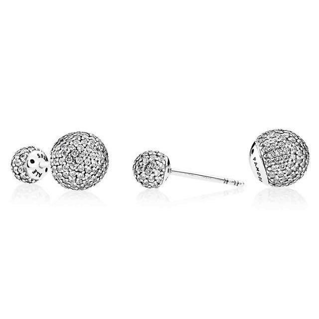 Pandora Pavé Drops Stud Earrings