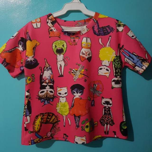 Pink Cats Top