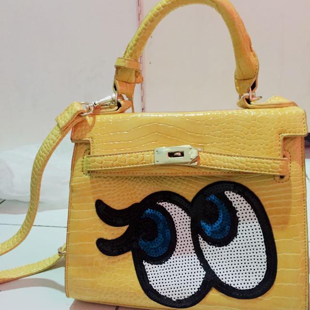 Playnomore Bag Sequin Yellow