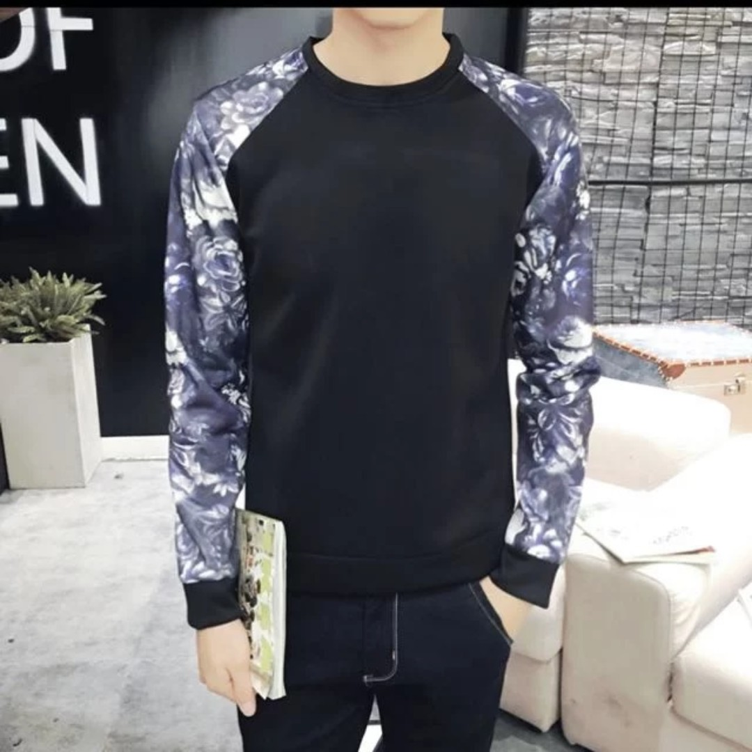 Plus Size Long Sleeve Black Top