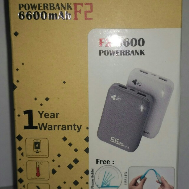 Power Bank Hippo Ilo 6600 Mah, Mobile Phones & Tablets, Mobile & Tablet Accessories, Power Banks & Chargers on Carousell