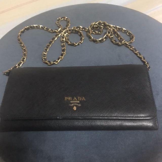 Prada wallet sling bag