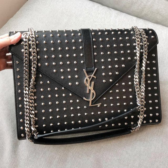 Preloved Authentic ysl studded SHW