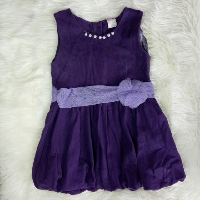 Purple baby dress