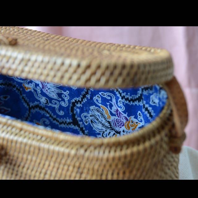 Rectangle Rattan Bag