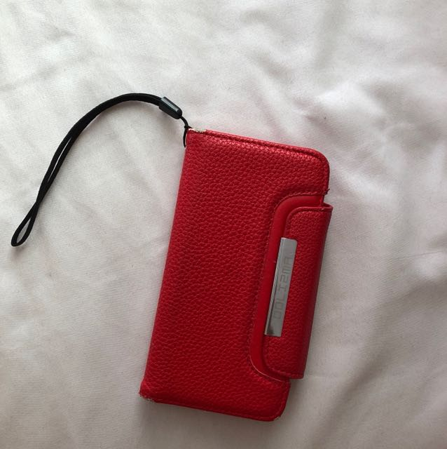 Red magnetic detachable wallet case- IPHONE 6/6S