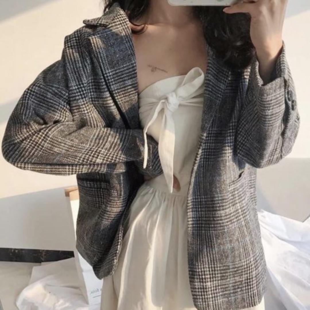 Robyn Checkered Blazer