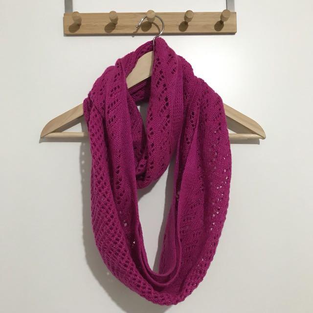 Rubi Pink Knit Infinity Scarf