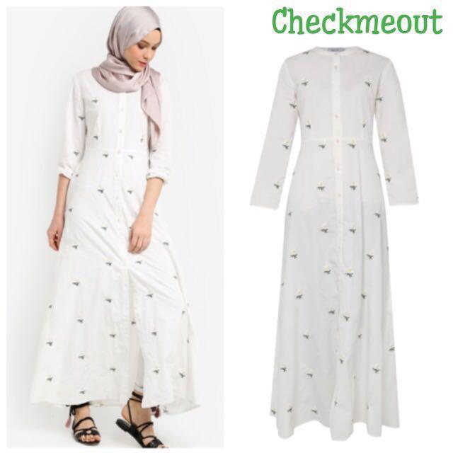31397570067 👗Sewa 3 Hari👗Zalia Embroidered Shirt Dress