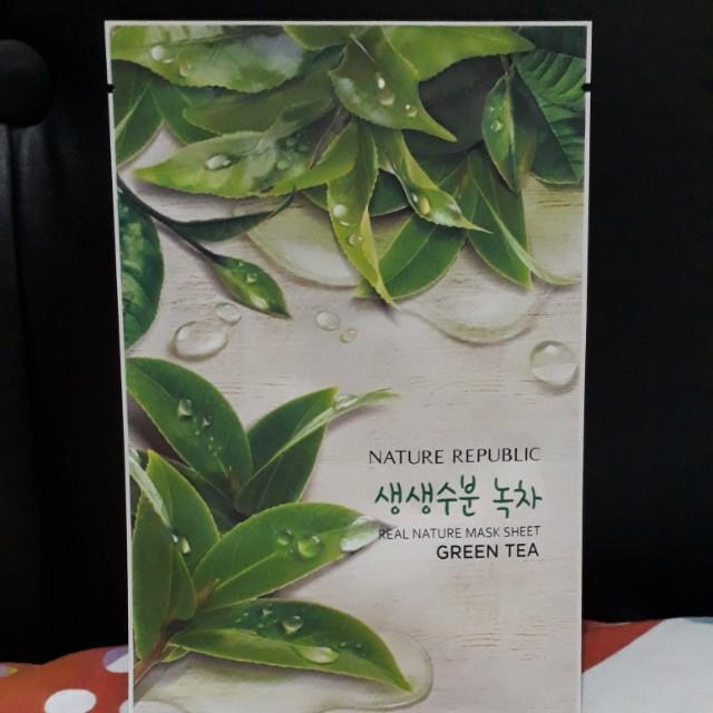 SHEET MASK GREEN TEA