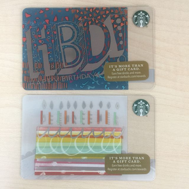 Starbucks Card Birthday 2016 Us Everything Else Others On Carousell