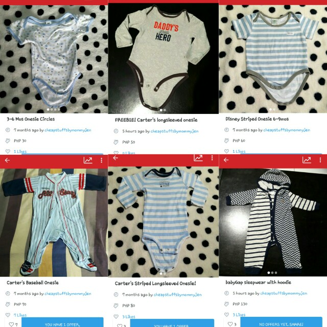 Take All 6 Branded Onesies for only 350!