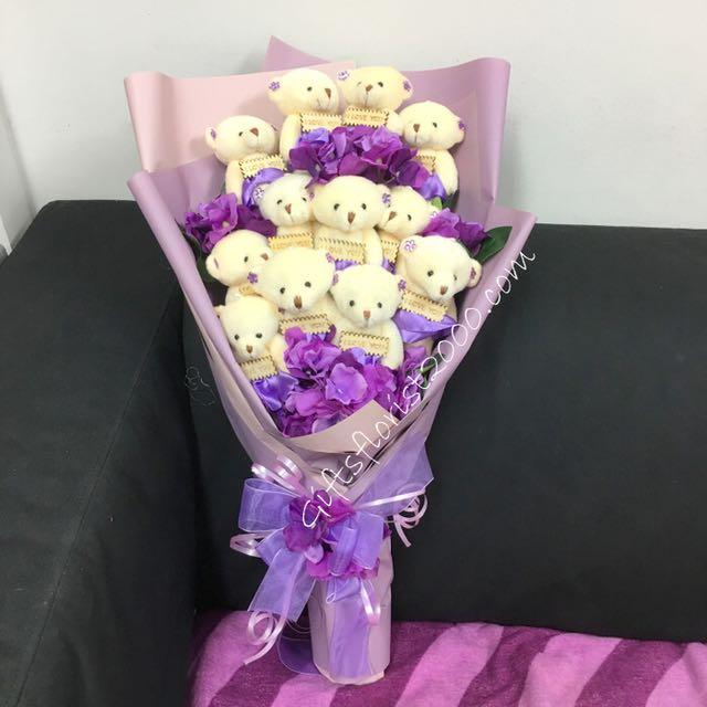 Teddy Bear Bouquet Valentine's Day Gifts