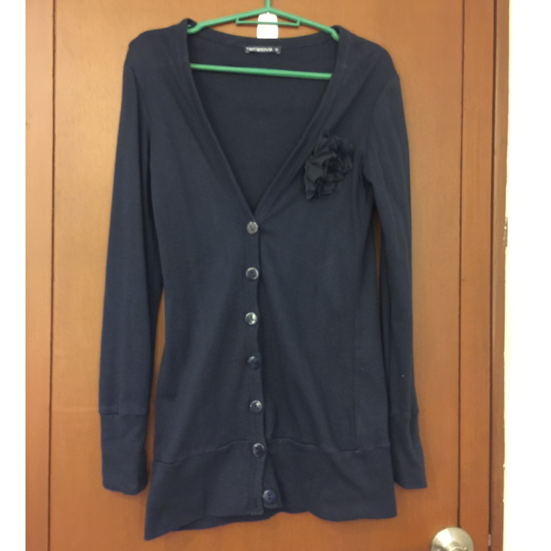 Terranova Cardigan with Floral Applique