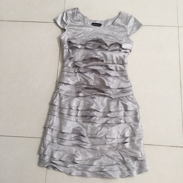 The executive silver truffle dress
