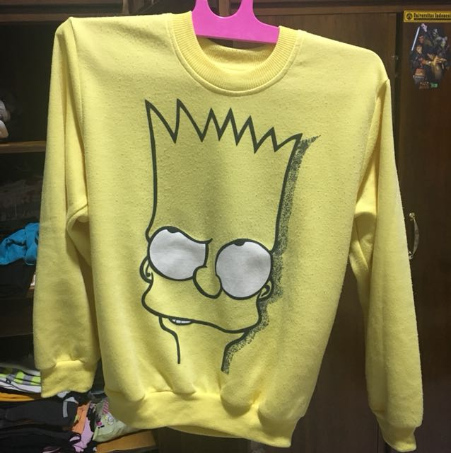 the simpsons sweater yellow kuning