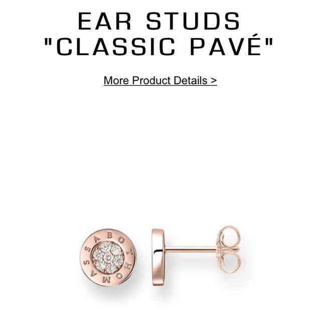 Thomas Sabo Classic Pave Earrings