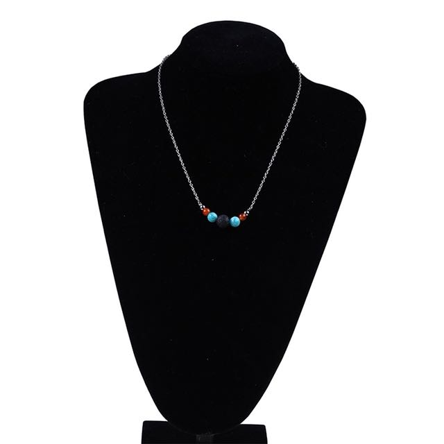 Three Gemstones diffuser necklace , free postage