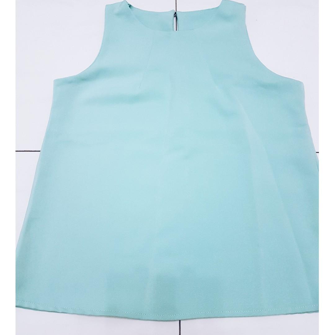 Tiffany Green Sleeveless Top
