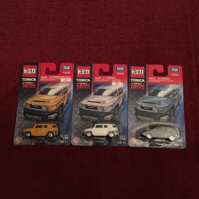 Tomica Cool Drive Lot of 3 - Toyota FJ Cruiser, Toys & Games, Other
