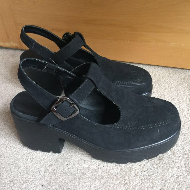 Topshop Suede Mary Janes