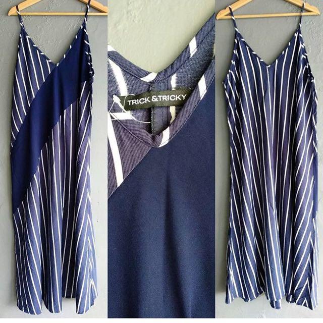 Trick n tricky blue dress